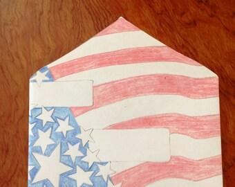 Patriotic Envelope DIY color yourself