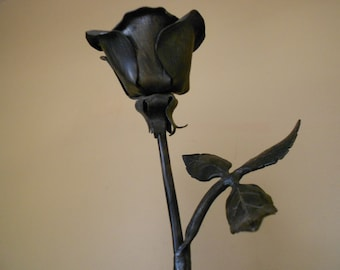 Hand-forged Iron Rose
