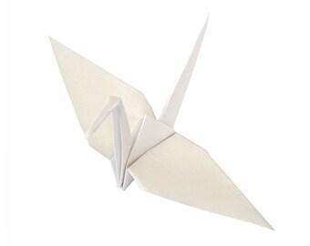 White Wedding Decor (10) White Paper Cranes , White Origami Birds