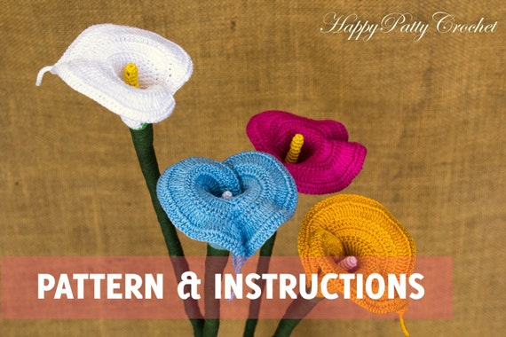 Crochet Calla Lily Pattern and Instructions Crochet Flower