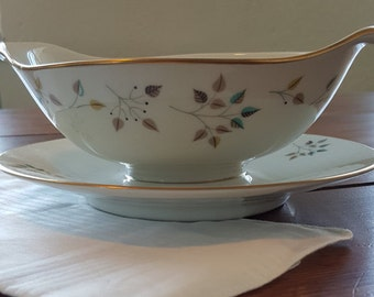Princess China Riviera Gravy Boat with attached Underplate