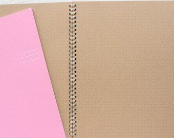 set of 3 large kraft foil pressed spiral notebooks