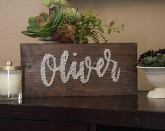 Personalized Name String Art - Custom Name Sign - Custom String Art - String Art - Nail Art -  Custom Sign - Name Sign - Plan B Decor