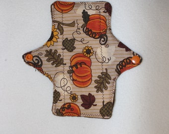 Festive Fall Pumpkins & Sunflowers reusable cloth pad
