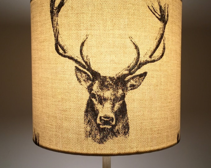 Lamp shades sydneys secrets country stag drum lampshade mozeypictures Gallery