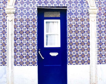 Portugal Photography - Portugal Fine Art Photography - Lisbon Portugal Fine Art Photography - Portugal Art Print - Blue Door with Tiles