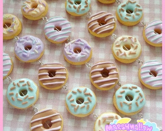 Big donut bracelet pastel colors sweet and cute