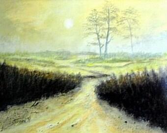 Morning landscape - landscape oil painting