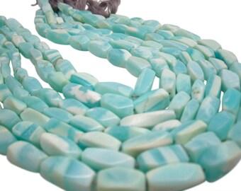 Peruvian Blue Opal Beads, Twisted Cylinder, Blue Opal, Peruvian Blue Opal, SKU 4612A