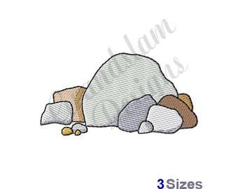 Rocks Pile - Machine Embroidery Design