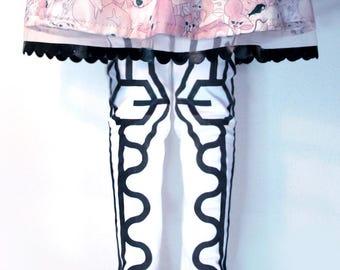 chicas rock / falda del bebé / tutú falda con print animal