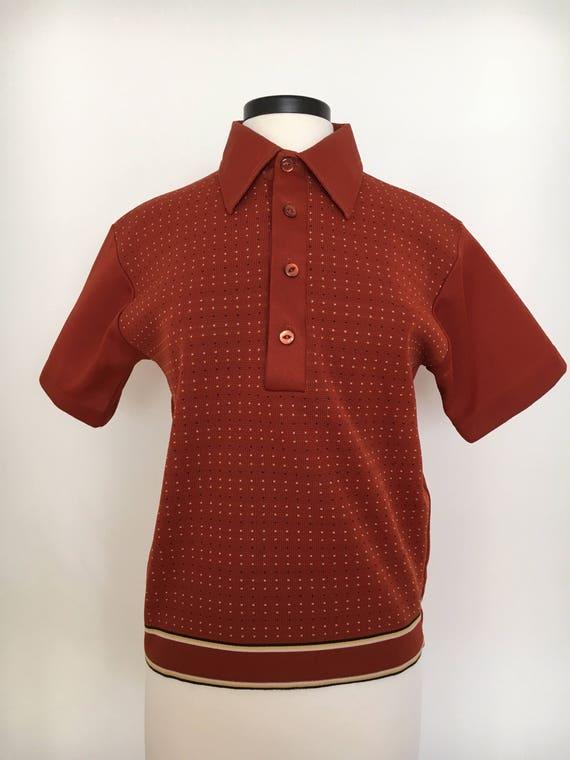 50s MELAWAL--Made in Jakarta--Men's Batik Shirt--Cotton j15O3FBE