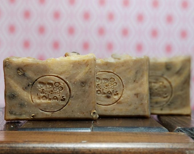 "Chamomile Calendula Soap ""Not All Wildflowers Are Daisies"" -- All Natural, Handmade, Barely Scented, Palm Free, Vegan Soap, Free Shipping"