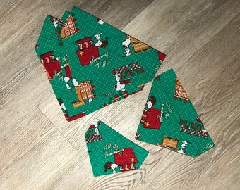 Snoppy Christmas Over-the-Collar Dog Bandana
