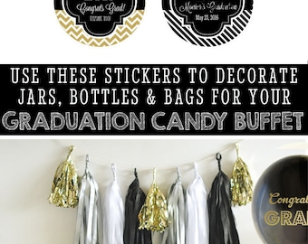 Graduation Stickers Personalized Graduation Stickers 2016 Custom Graduation Stickers Graduation Labels (EB4007G-MP)  24| STICKERS