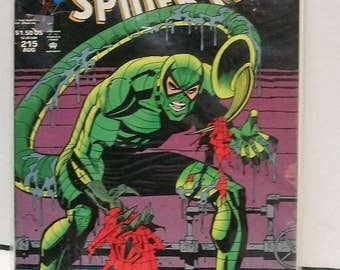 1994 Peter Parker The Spectacular Spider-Man #215 Aug Scorpion  The Predator and The Prey Pt.1  Very Fine Condition  Vintage Marvel Comic
