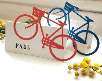 Personalized/Hand crafted Bicycle Place Card