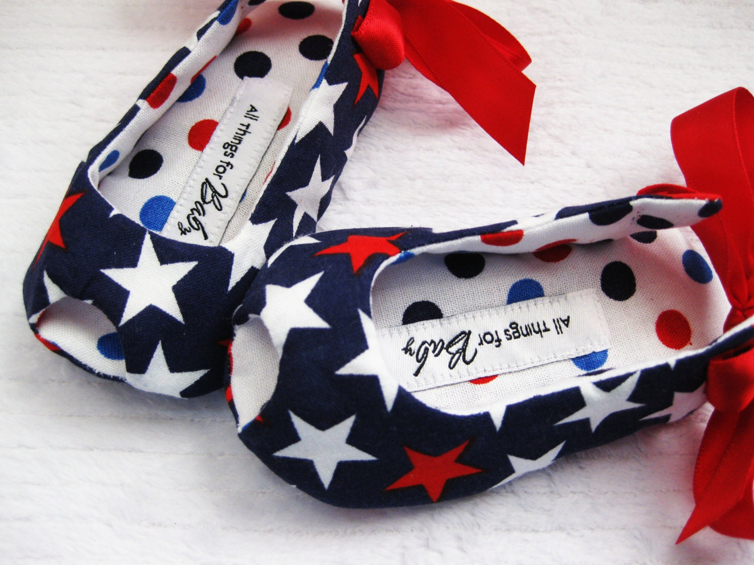 Sale Girls Patriotic Shoes Red White Blue Shoes 4th Of July