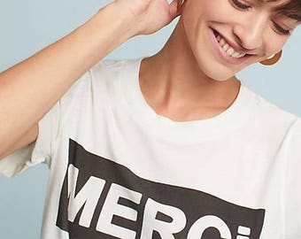 MERCI Thank You French ladies t-shirt