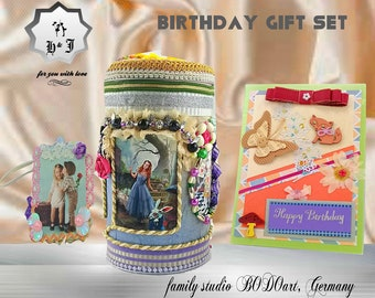 Princess birthday. Alice in wonderland. Top gift box. My princess gift. Girls birthday gift. Fairy box. Baby shower gift. Keepsake box.