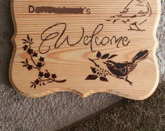 Custom Welcome Sign **Images for Example**