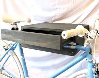 Rustic Bike Shelf w/ Drawer