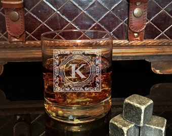 For Him, Personalized Engraved Whiskey Glass, Whiskey Stones, Wedding Gift, Perfect Gift, Groomsmen Gift