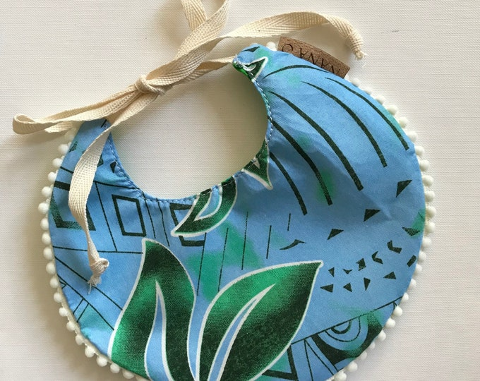 Blue/Green Reversible Bib