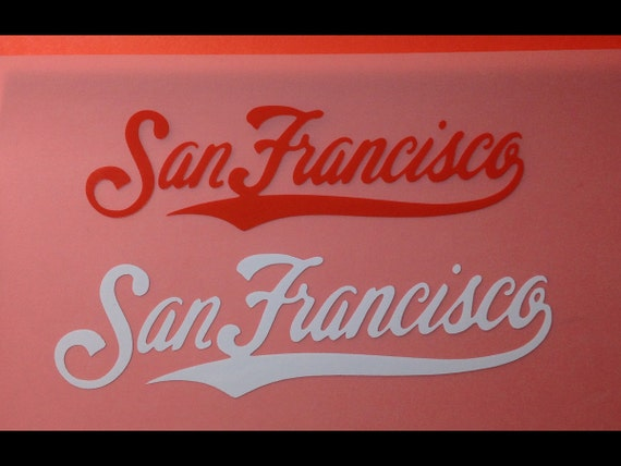 San francisco giants cursive vinyl decal sticker large