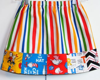 Seuss Characters  skirt   (2T, 3T, 4T, 5T, 6, 7, 8, 10)