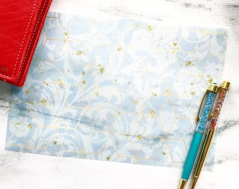 NEW* Blue Geo Vellum Sheet - Spring Fashion Collection