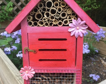 Wood insect house