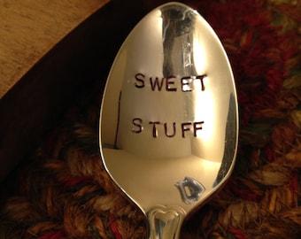 Hand Stamped Vintage Spoon, Stamped Vintage Spoon, Stamped Valentine's Day Spoon, Birthday Gift, Wedding Gift, Stamped Sugar Spoon