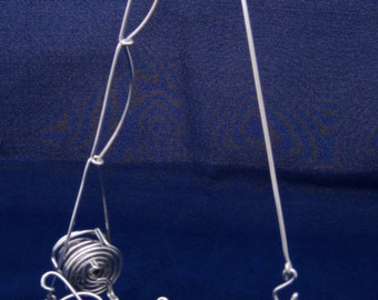 Wire Personalized Name With Fishing Pole