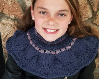 Knitted Neck Warmer / Turtleneck Cowl
