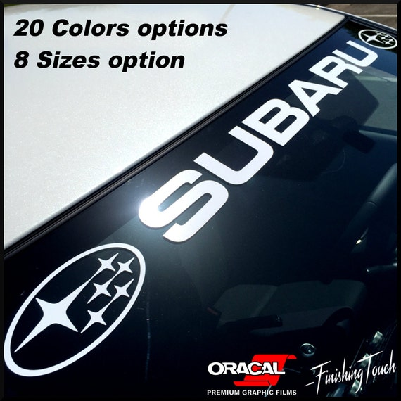 Subaru windshield banner sticker decal vinyl graphic any size