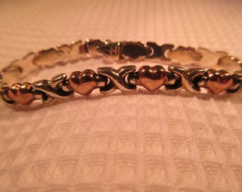 Retro ITAOR Sterling Silver Bracelet X's & O's