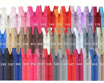 50 zippers spiral concealed, 30 cm, undivided, invisible (colour: 303 sable)