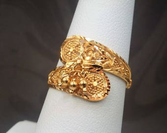 GOLDSHINE 22K Solid Yellow Gold RING Size 8 (US/Canada) Genuine & Hallmarked 916, Handcrafted and Extremely Gorgeous