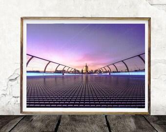 Bridge, Washington, Skyline, Digital Wall Art, Night Time, White House, Print,