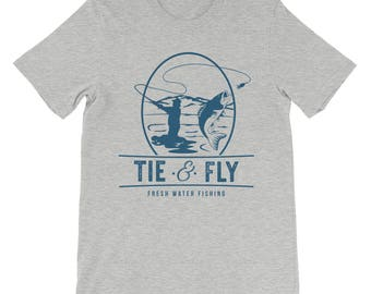 Tie and Fly Fresh Water Fishing, Men's Fly Fishing T-shirt