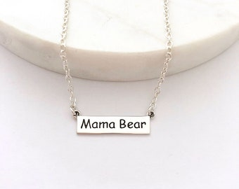 Mama Bear Necklace - Mother's Day Gift - Mom and Baby Necklace - Mom Necklace - New Mother Gift