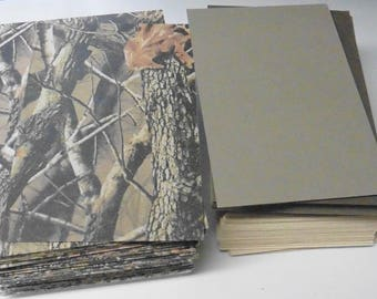 "80 Pieces Camo and solid Card stock, 1/16"" Thick"
