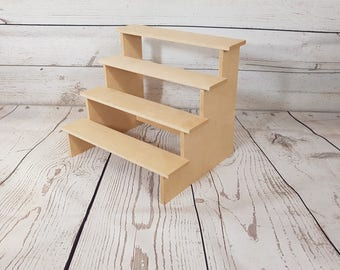 4 tier step display stand counter Jewellery Retail mdf wood
