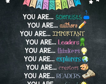 Teaching Poster, Inspirational, All Subjects, Poster for Classroom, Bulletin Board Idea