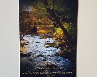The Old Blanchard Stone Bridge in Mountain View, Arkansas, Landscape, Wall Art, Fine Art, Matted, Unmatted, 5x7, 8x10
