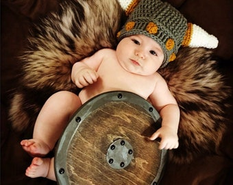 Viking Hat - Norwegian Hat - Viking Helmet - Baby Hat - Child Hat - Adult Viking Hat - Halloween Costumes - Minnesota Vikings Hat  sc 1 st  Etsy & Baby viking helmet   Etsy