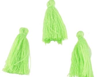 3 30x5mm cotton thread tassels