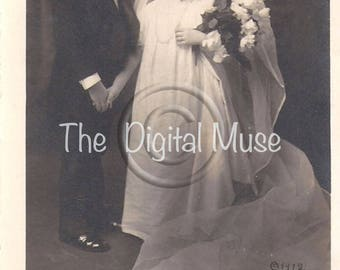 Instant Download Vintage Photograph - Tom Thumb Wedding
