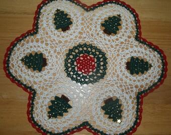Crochet Christmas Trees- Tree Doily Pattern